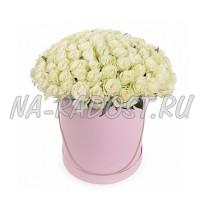Цветы в коробке №2WHITE