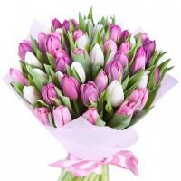 """Букет тюльпанов """"Розовая нежность"""""""