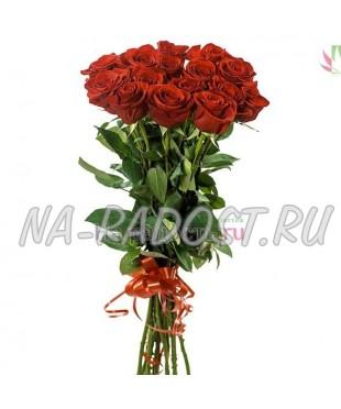 Букет элитных красных роз