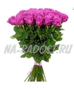 Букет элитных розовых роз