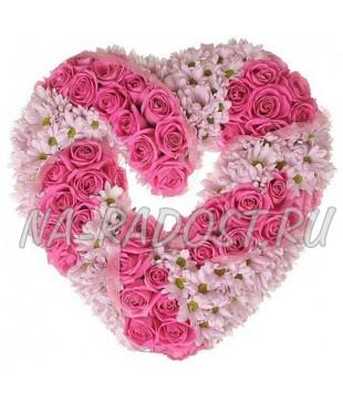 Розовый веночек