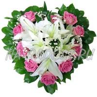 """Корзина цветов """"Сердце ангела"""""""