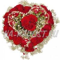 """Корзина цветов """"Сердце для тебя"""""""
