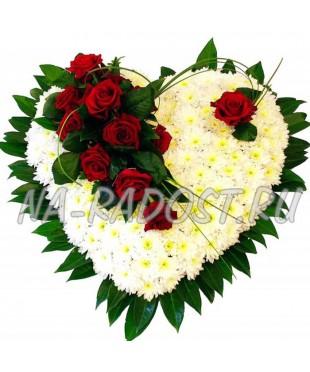 """Сердце из кустовых хризантем """"Валентинка для..."""""""