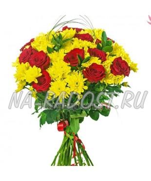 """Букет хризантем и роз """"Вдохновение"""""""