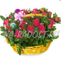 "Корзина цветов ""Загадай желание"""